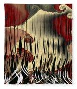 Destruction Of The Earth Abstract Fleece Blanket