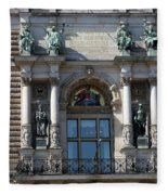 Detail City Hall Hamburg II Fleece Blanket
