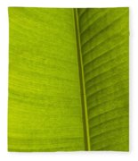 Detail Of Banana Leaf Andromeda Fleece Blanket