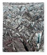 Detail Of Icelandic Glacier Fleece Blanket