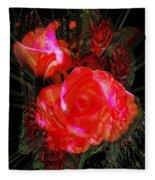 Detailed Roses Fleece Blanket