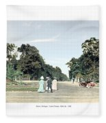 Detroit - Belle Isle Park - Central Avenue - 1905 Fleece Blanket