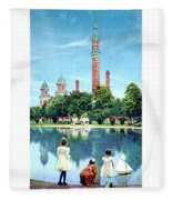 Detroit - Gladwin Waterworks Park - Jefferson Avenue At The Detroit River - 1905 Fleece Blanket