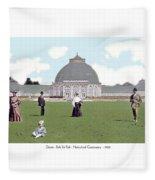 Detroit - Horticultural Conservatory - Belle Isle Park - 1905 Fleece Blanket