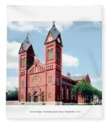 Detroit - Sheridan Avenue - St Anthony Catholic Church - 1910 Fleece Blanket