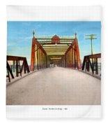 Detroit - The Belle Isle Bridge - 1908 Fleece Blanket