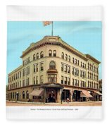 Detroit - The Brunswick Hotel - Grand Rive And Cass Avenues - 1900 Fleece Blanket