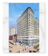 Detroit - The Lafayette Building - Michigan Avenue Lafayette And Shelby Streets - 1924 Fleece Blanket