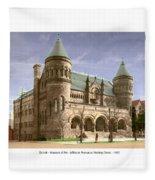 Detroit - The Museum Of Art - Jefferson Avenue At Hastings Street - 1905 Fleece Blanket