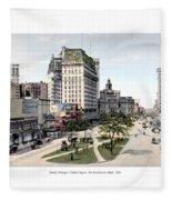 Detroit - Cadillac Square - 1905 Fleece Blanket