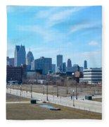 Detroit Fleece Blanket