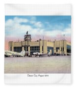 Detroit - City Airport - 1944 Fleece Blanket