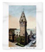 Detroit - Michigan Central Railroad Depot - Jefferson Avenue - 1900 Fleece Blanket