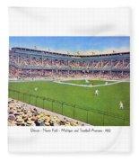 Detroit - Navin Field - 1922 Fleece Blanket