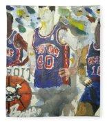 Detroit Pistons Bad Boys  Fleece Blanket