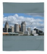 Detroit Riverfront Fleece Blanket