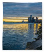 Detroit Sunset Fleece Blanket