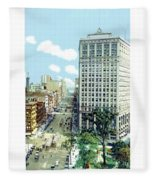 Detroit - The David Whitney Building - Woodward Avenue - 1918 Fleece Blanket
