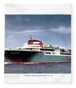 Detroit - The Ss Aquarama - Detroit To Cleveland - 1955 Fleece Blanket