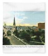 Detroit - Woodward Avenue North Grand Circus Park - Central Methodist Episcopal Church - 1920 Fleece Blanket
