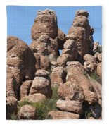 Devil Canyon Rim Rocks Fleece Blanket