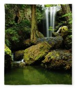 Devil Creek Falls  Fleece Blanket