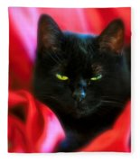 Devil In A Red Dress Fleece Blanket