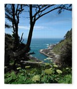 Devil's Churn Oregon Coastline Fleece Blanket