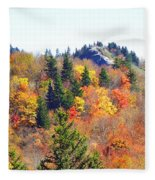 Devil's Courthouse In The Fall Fleece Blanket