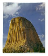Devil's Tower 4 Fleece Blanket