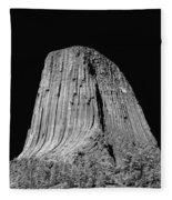 109851-bw-devil's Tower 2  Fleece Blanket