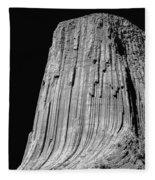 109851-bw-e-devil's Tower Bw 3 Fleece Blanket
