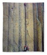 Devil's Tower Climbers Fleece Blanket