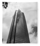 Devon Tower In Okc Fleece Blanket