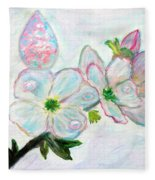 Dew And Smell Of Almond Flowers Fleece Blanket