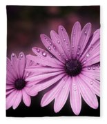 Dew Drops On Daisies Fleece Blanket