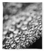 Dew Drops On Leaf Edge Fleece Blanket