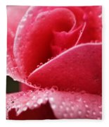 Dew Drops On Pink Fleece Blanket