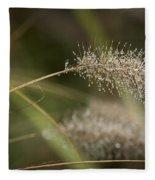 Dew On Ornamental Grass No. 1 Fleece Blanket