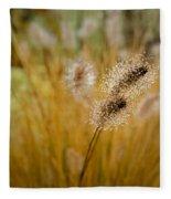 Dew On Ornamental Grass No. 4 Fleece Blanket