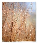 Dewdrop Morning Fleece Blanket