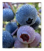 Dewy Blueberries Fleece Blanket