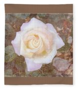 Dewy Dawn Peace Rose Fleece Blanket