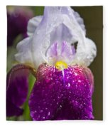 Dewy Iris Fleece Blanket