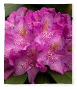 Dewy Rhododendron Fleece Blanket