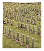 Dfw National Cemetery II Fleece Blanket