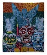Dia De Los Muertos Fleece Blanket