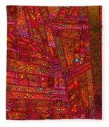 Diagonal Tiles In Reds Fleece Blanket