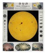 Diagram Of The Sun With Sunspots C Fleece Blanket
