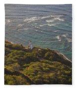 Diamond Head Lighthouse Fleece Blanket